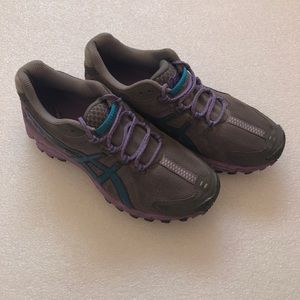 Asics Women Walking Shoes Size 7 Gray/Purple